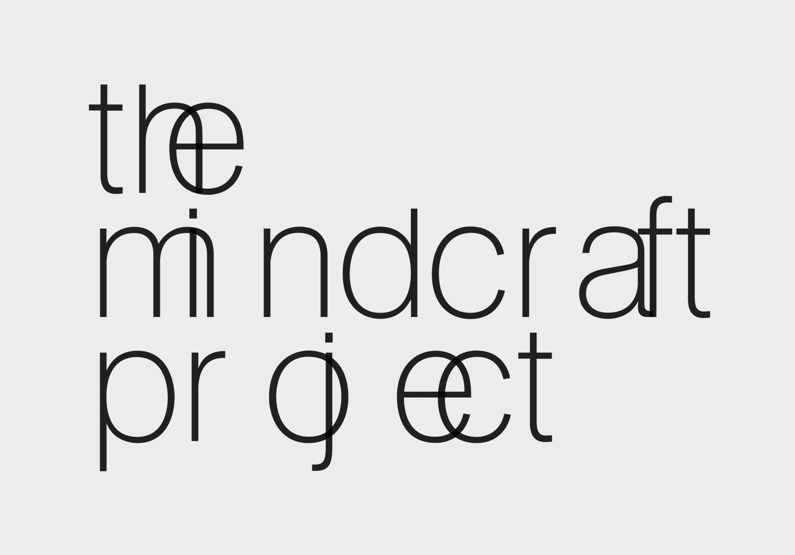 The Mindcraft Project - new logo